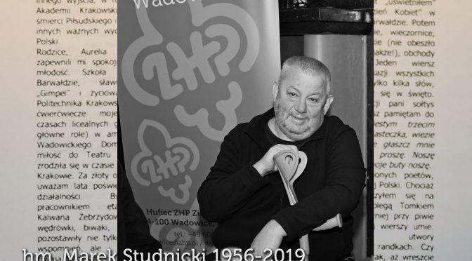 Odszedł hm. Marek Studnicki